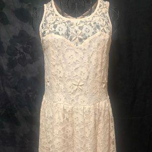 Pinky Lace Dress w/ Beads and Rhinestones